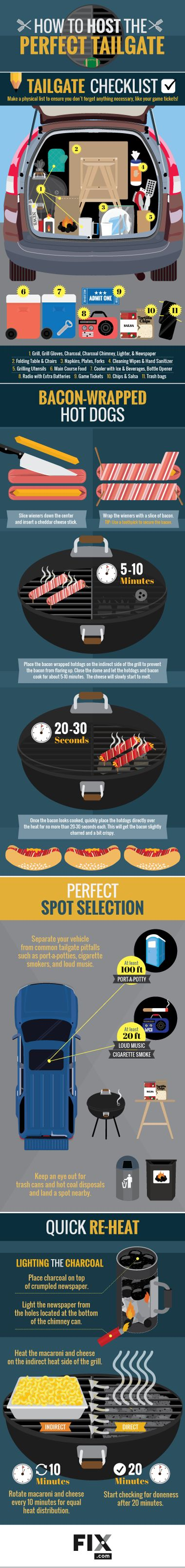 Easy Tailgate Menu for All the Action in the Parking Lot #Infographics