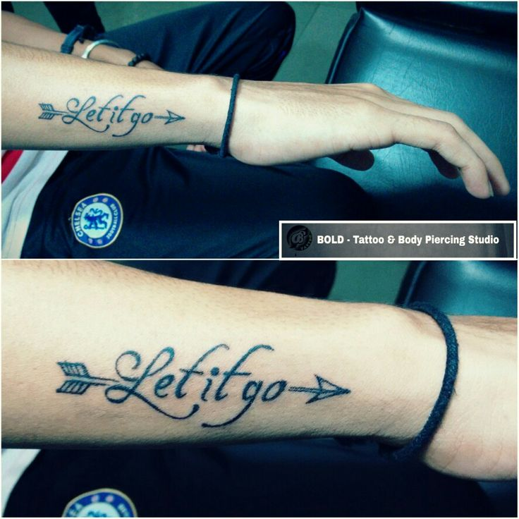 let it go with Arrow Tattoo