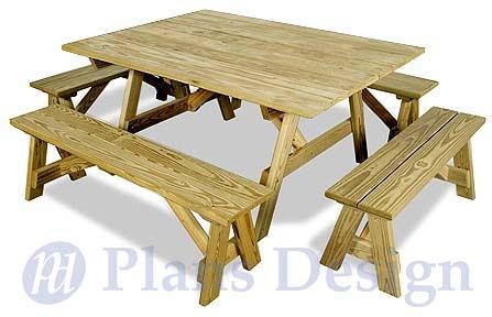 Picnic Table Plans | Traditional Octagon Picnic Table Plans Pattern ODF05 | eBay