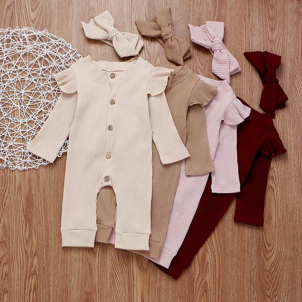 Sunsiom Sunsiom Newborn Baby Girl Boy 2pcs Autumn Clothes Set Knitted Romper Jumpsuit Outfits Walmart Com In 2021 Baby Girl Clothes Winter Baby Girl Outfits Newborn Winter Baby Clothes