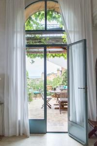 Rue Des Lauriers, Le Luberon, Provence, France - terrace view from sitting room