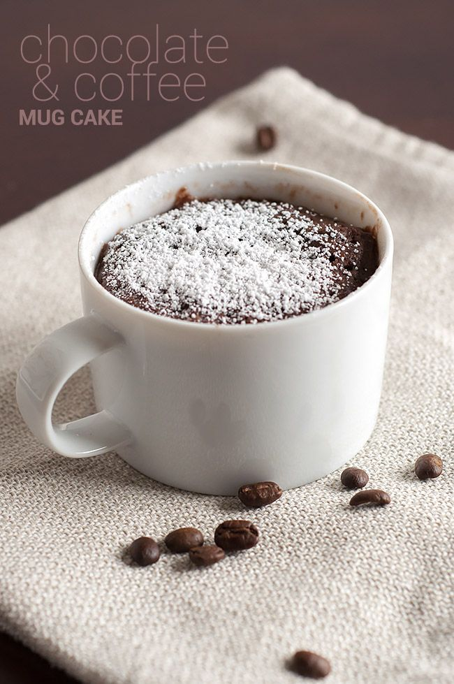 Chocolate and Coffee Mug Cake | the Hungry Hedgehog