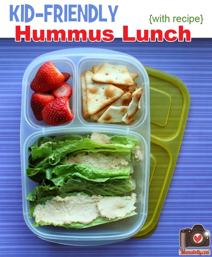 Kid-friendly hummus lunch RECIPE. Packed in @EasyLunchboxes