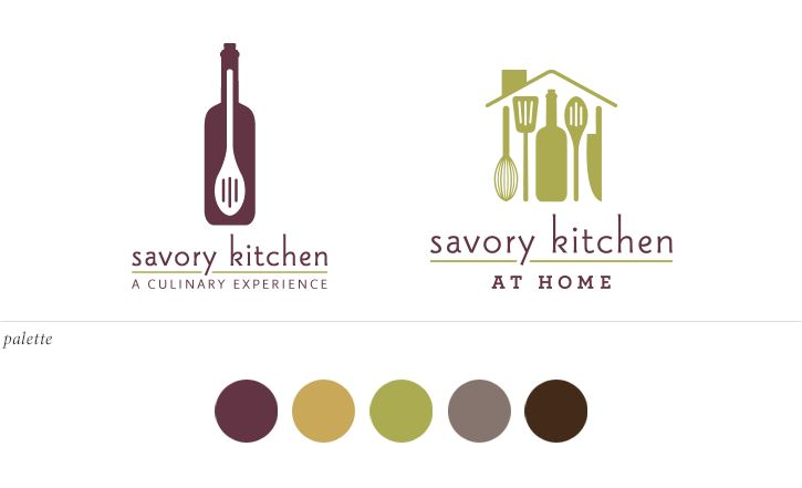 Savory kitchen logo design curious co creative for Kitchen decoration logo