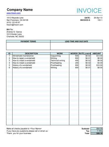 free online invoice creator
