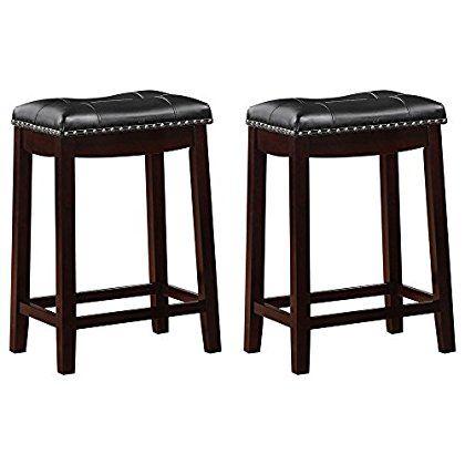 Home Bar Stools Black Cushions 24 Bar Stools