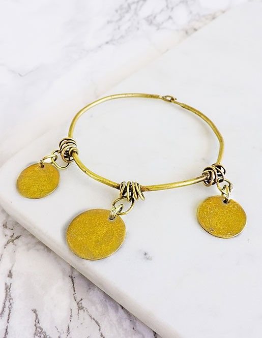 This elegant bracelet fits both a hippie chic aesthetic or even a more modern minimalist style.  So beautifully crafted by Burmese master artisans .|| coin bracelet || gypsy bracelet || gypset bangle || festival bracelets || sustainable fashion ||