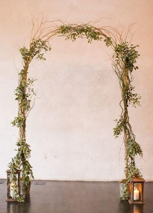 Birch Pole & Curly Willow Wedding Arch