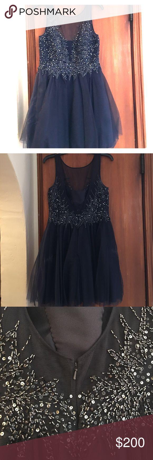 Selling this Navy blue formal dress on Poshmark! My username is: stephemrey. #shopmycloset #poshmark #fashion #shopping #style #forsale #camille la vie  #Dresses & Skirts