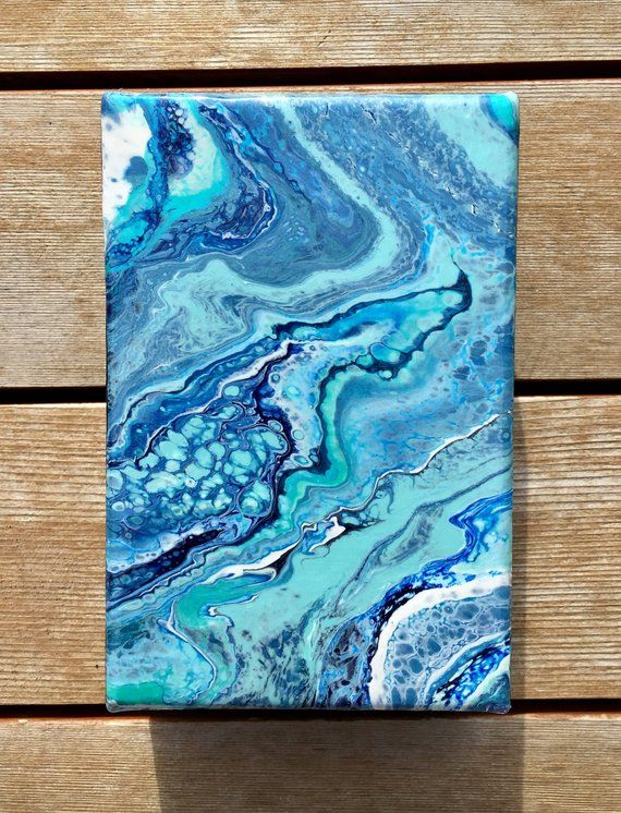 Fluid Acrylic Painting Mini Sky Walker 4 In 2019 Painting