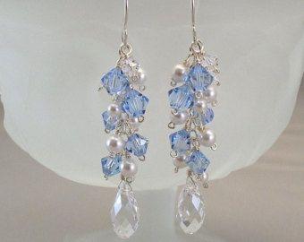 Joyas de fiesta boda cremosas blanco perlas de agua dulce y