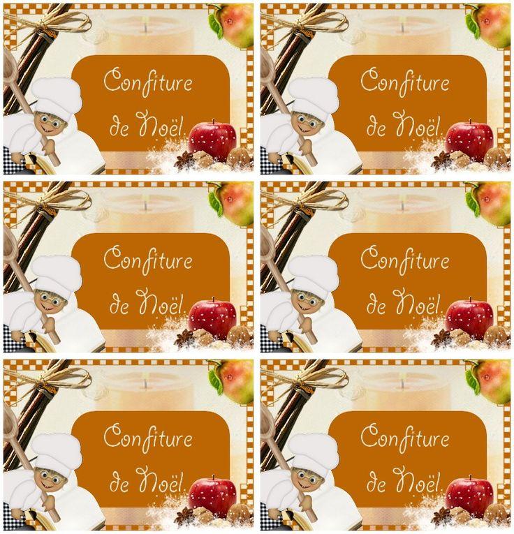 Etiquettes confiture de noel printable cuisine pinterest etiquettes pour confiture - Petites images de noel ...