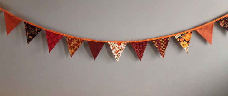 Thanksgiving, Harvest Bunting, Fabric Flag Banner, Fall Surprise Decoration, Double Sided, Fall, Bunting Banner, Flag garland,