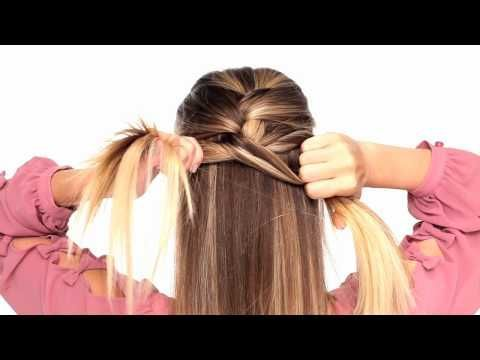 A video that teaches you how to french braid the back of your head, she makes it look so easy!