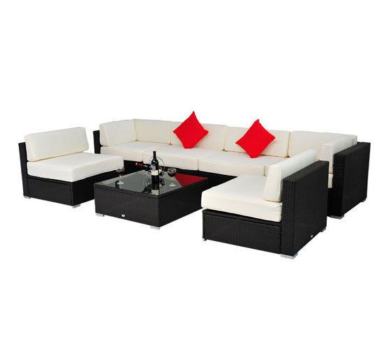 7 pc Outdoor Patio PE Rattan Wicker Sofa Sectional Furniture Set - SHIPS FREE! #Outsunny $1099