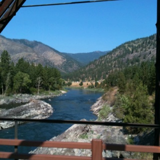 Our hometown: Stevensville, #Montana. I cross this bridge every time I go to the grocery store!: Grocery Store