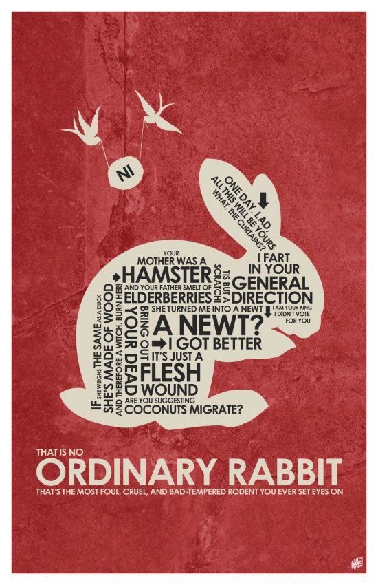 Monty Python and the Holy Grail Quote Poster by OutNerdMe on Etsy