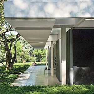 Another view of the Eero Saarinen designed house in Columbus, IN   Columbus is an architectural gem. BEST BET: go to the visitor's center and take a tour of the town.