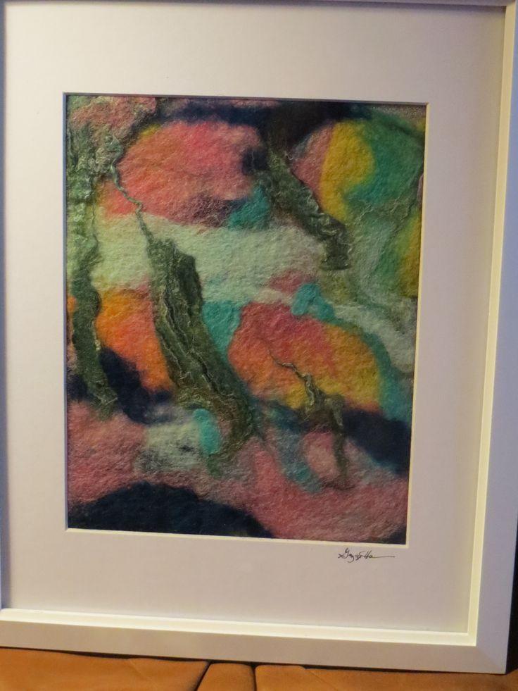 abstract wet felt art