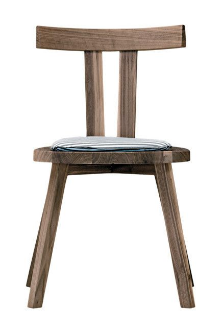 Dining chairs | Gervasoni 'Gray 23' American walnut dining chair by Paola Navone - very comfortable!