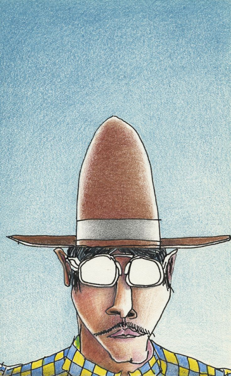 Tex/ Pen and Ink with colour pencil