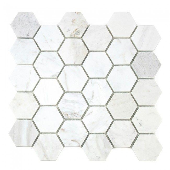 Carrara White Marble Hexagon Mosaic - Online Shop