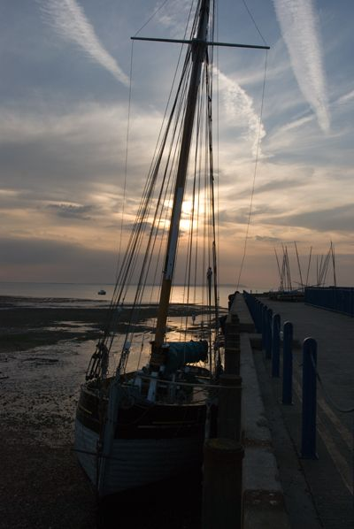 Evening sun at Whitstable harbour