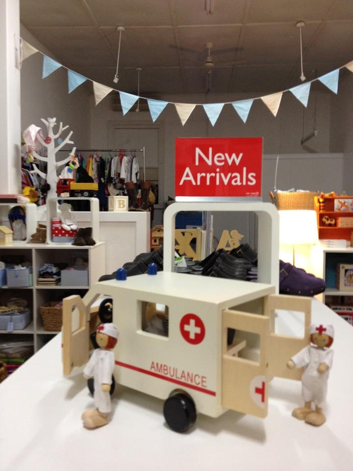 I adore our new ambulance. Complete with 3 persons, wheeling trolley ,Ambulance. $34.95@