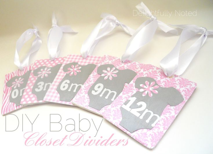 DIY Baby Closet Dividers...they are so easy to make & can be customized to any nursery theme!