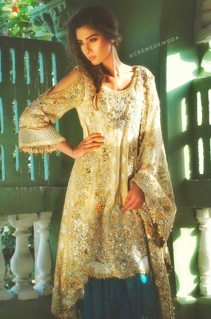 Desi Fashion #kameez @CremeDeModa