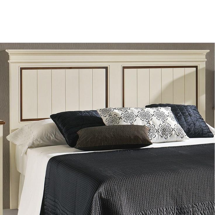 cabecera de madera para cama de matrimonio o juvenil cabecero de cama en madera de haya maciza y lacado en dos colores cabeceros de cama pinterest
