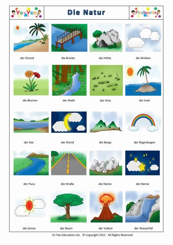 Worksheet German Intermediate For Children Lessons 99 best learning german images on pinterest learn nature flashcards for children die natur teaching early learners vocabulary easy and with