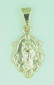 Medalhinha de Santo Expedito folheada a ouro - Imagem Folheados