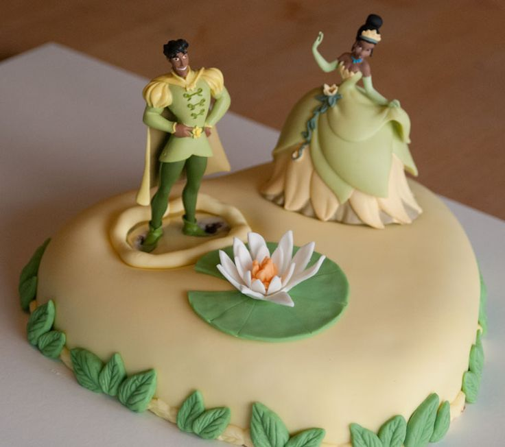 Tiana and Naveen cake / Tiana og Naveen kage / Princess and the frog cake