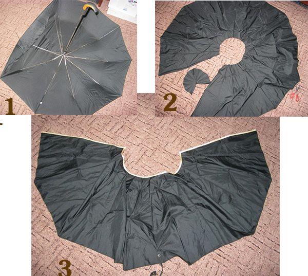 Накидка для стрижки волос своими руками из старого зонтика