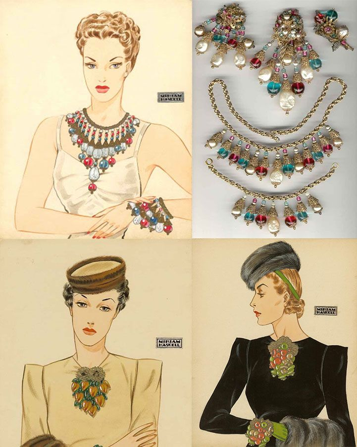 Винтажные украшения Miriam Haskell - Vintage Cult Showroom