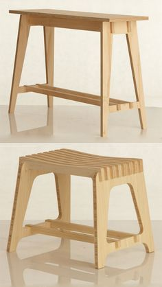 Adam Lynch is living the ID student's dream: He's started making money off of his designs while still in school.    Lynch, who studies furniture design at Australia's Royal Melbourne Institute of Technology, created a line of flatpack furniture called Scissor that includes stools, tables, and a wine rack.