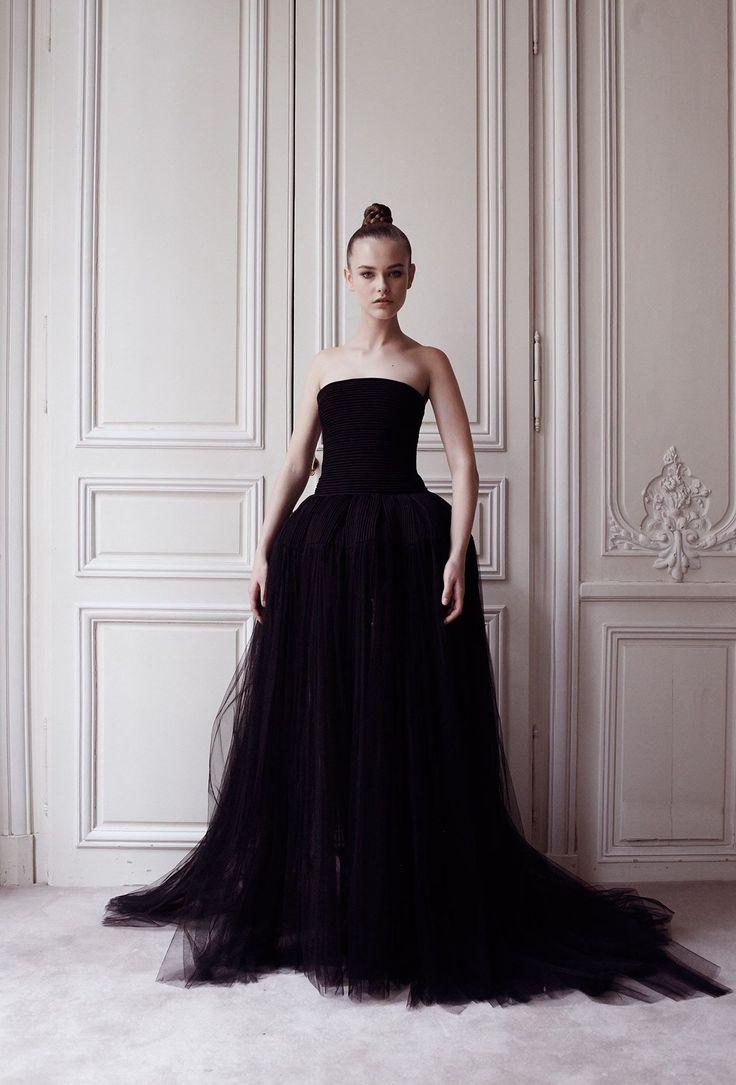 Robe bustier du soir longue Fontaine - Automne-hiver 14 15 - Couture Campagne - Delphine Manivet