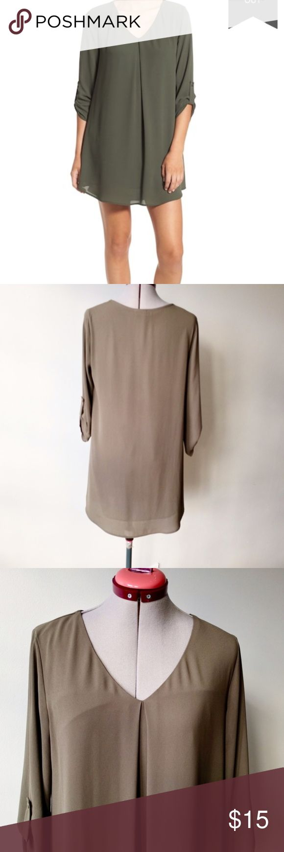 Lush Karly Dress Army Green Color Size S MSRP $48 Blogger favorite from Nordstrom for a steal! Trendy Army Green color perfect for every season. Size S TTS and excellent used condition. Also listing a gorgeous royal blue & wine color options. I offer discount for bundles so grab the opportunity to get all 3 for less then 1 sold for retail. Lush Dresses Mini