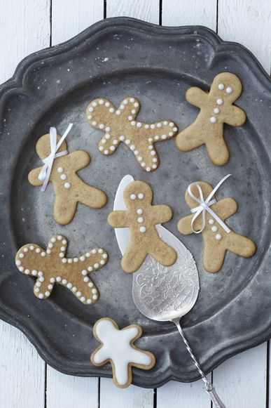 gingerbread people and christmas stockings