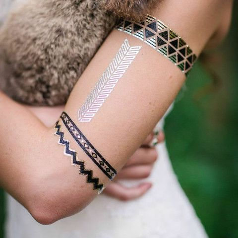 Vanishink Metallic Temporary Tattoos