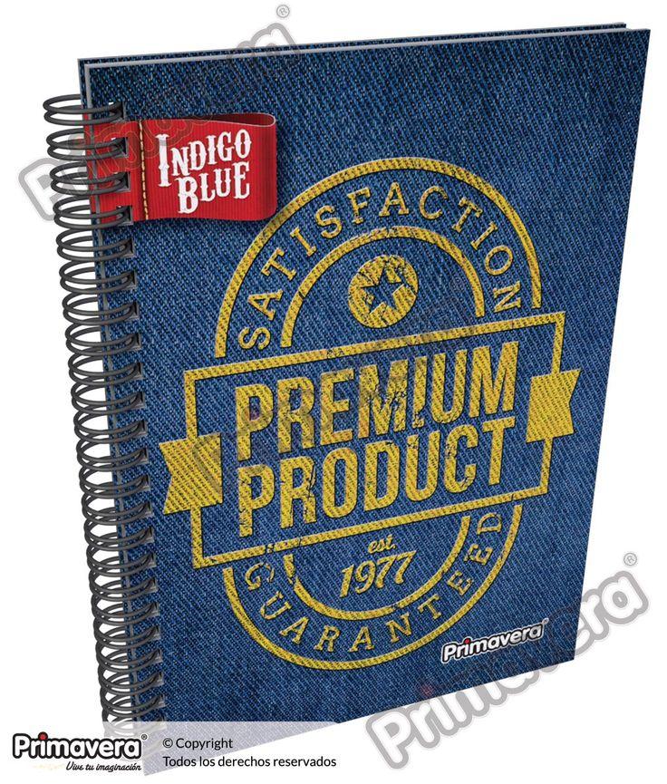 Cuaderno Pasta Dura Indigo Blue http://escolar.papelesprimavera.com/product/cuaderno-pasta-dura-indigo-blue-primavera-5/