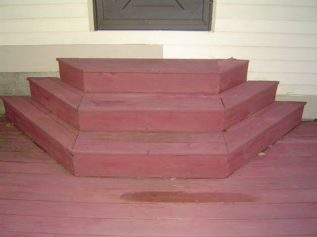 Not all deck stairs need to be your straight run of the mill staircase. In cases where the house door opening to the deck sits a couple of feet above the decking, consider building custom shaped deck stairs.
