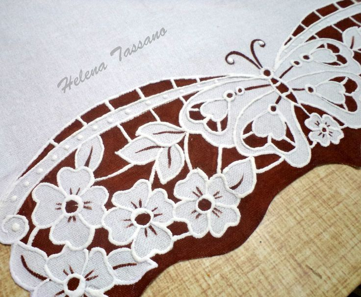 Helena Tassano Artesanato, Pintura em Tecido, Aulas de Pintura, Pintura sobre Tela: barrados para pano de prato