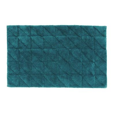 Angular Cotton Bath Mats by Linen House | shopinside.com.au, $29.95, dark teal (other towels in this colour)