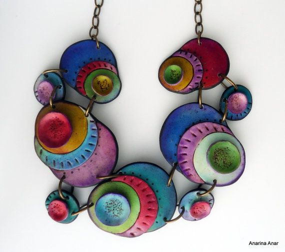 Polymer clay necklace by AnarinaAnar on Etsy, €86.00