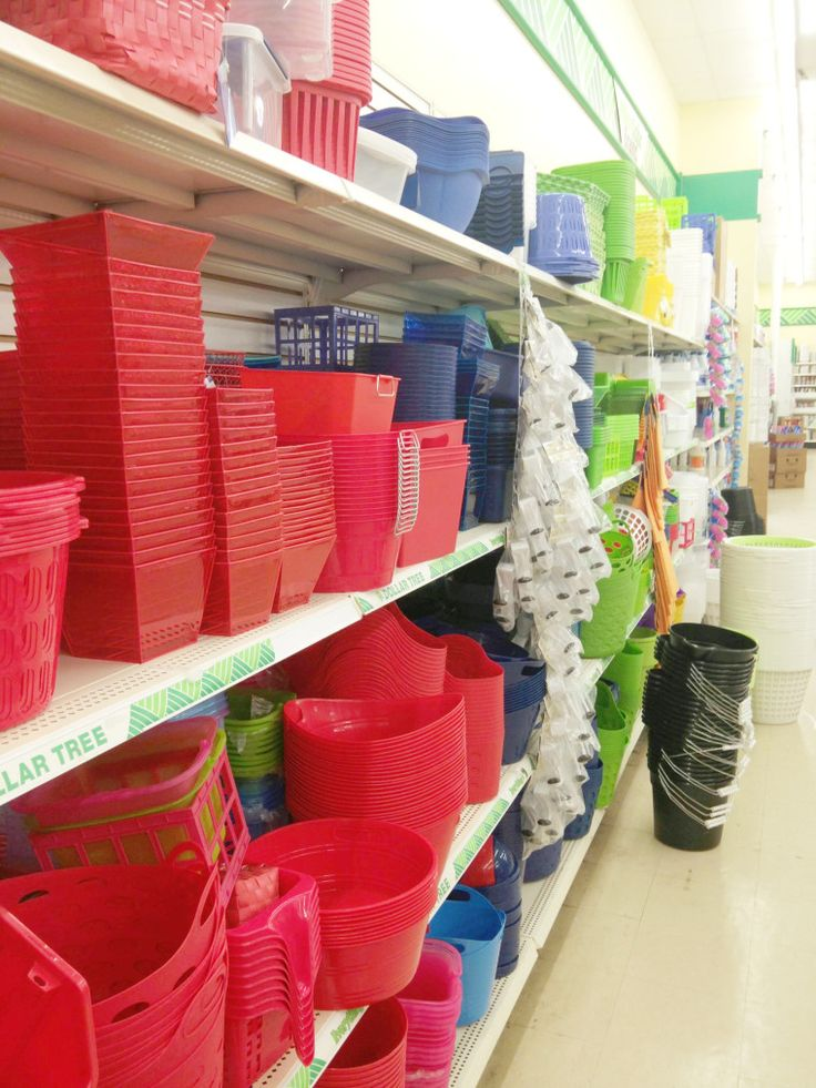 Dollar Tree for inexpensive organizing items