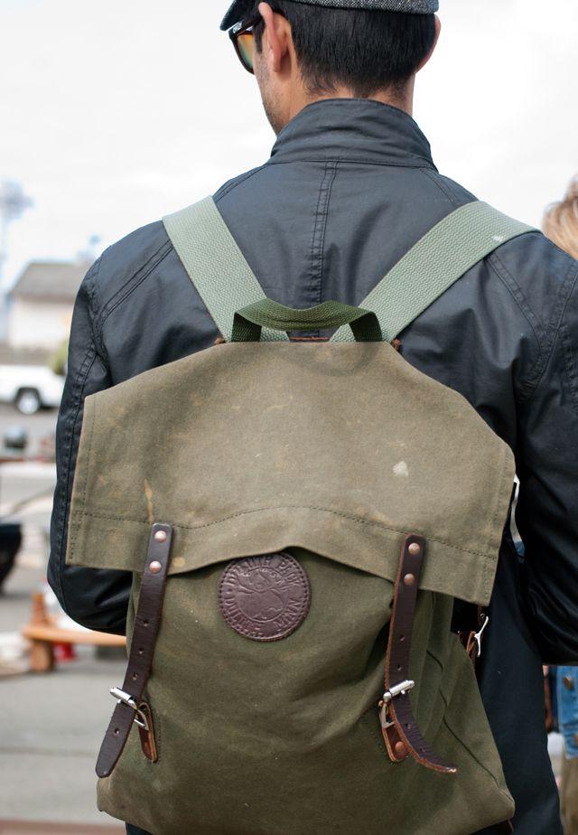 via Modern Hepburn: Duluth Utility, Canvas Backpacks, Leather Handbags, Duluth Backpacks, Badass Backpacks, About Men SのFashion, Duluth Packs, Utility Backpacks, Modern Hepburn
