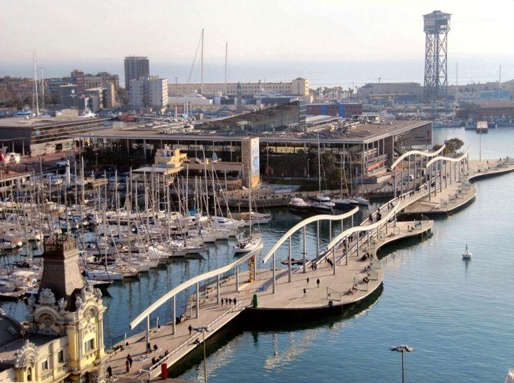 port-de-Barcelone: promenade le long fait/check