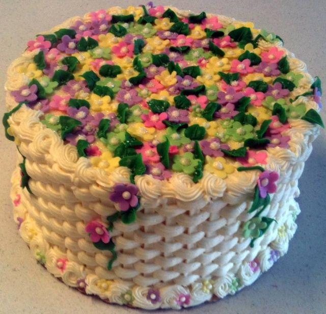 Flower Basket Mothers Day Cake : Happy day lori flower basket weave birthday cake